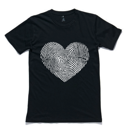 TSF 'Fingerprint Heart' T-Shirt