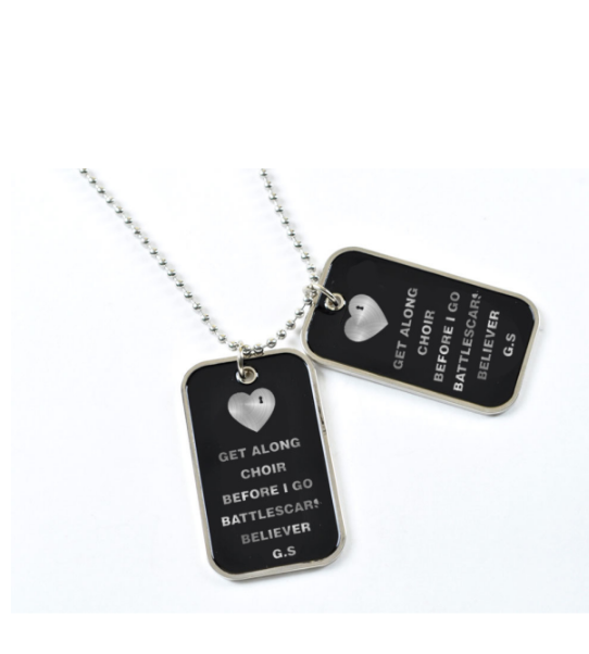 Ridin' with you dog tags