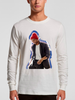 Ridin' with you long sleeved tee white