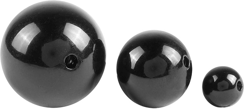 Black Polished Pearl Beads for DIY Jewelry, Arts, Crafts (3 Sizes, 90 Pieces)
