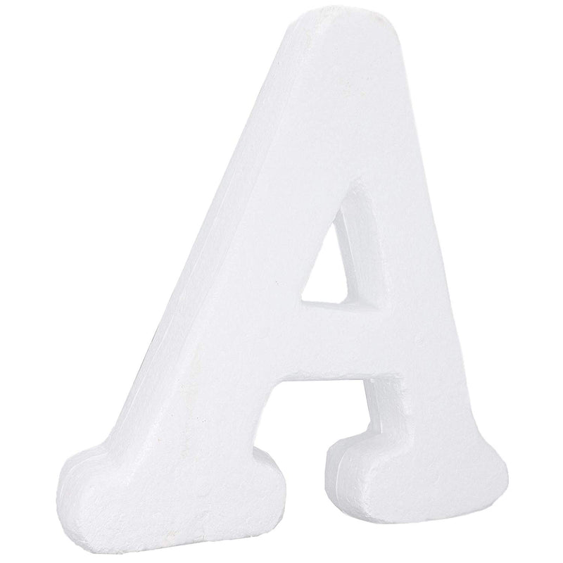 Foam Letters for Crafts, Letter A (White, 12 in)