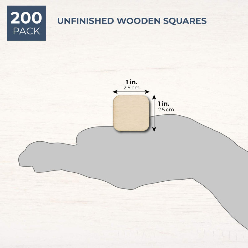 60-Pack Unfinished Wood Square Cutout Pieces for DIY Crafts, 3 Inches