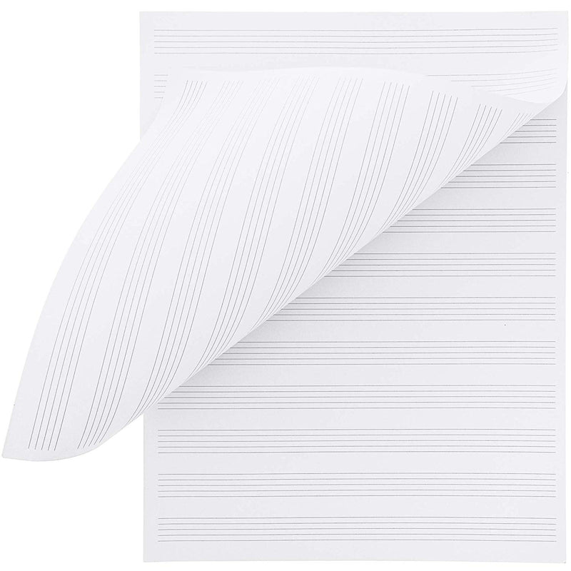 Music Manuscript Sheet Paper Notebook Pad (96 Count)