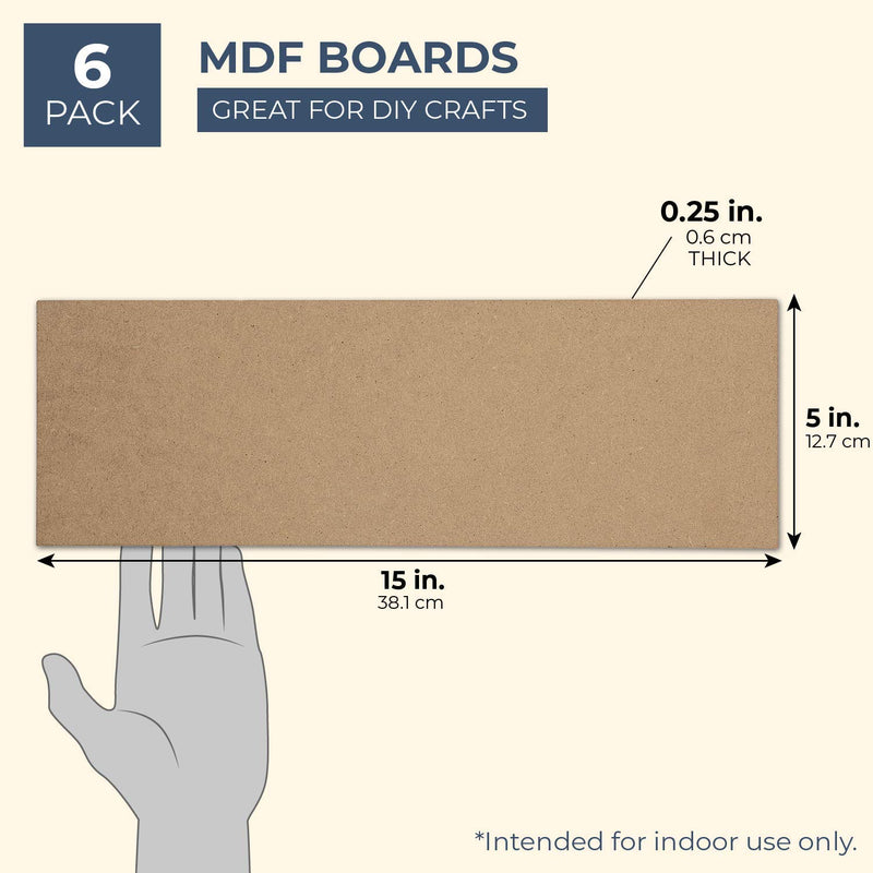 Bright Creations MDF Board, 5 x 15 Inches (6 Pack)
