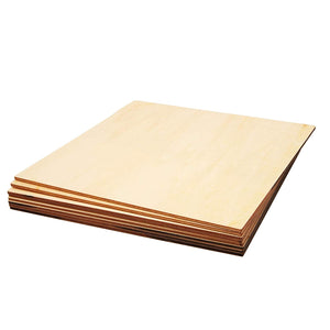 8-Pack Square Basswood Plywood Thin Sheets for Wood Burning, 8 Inches