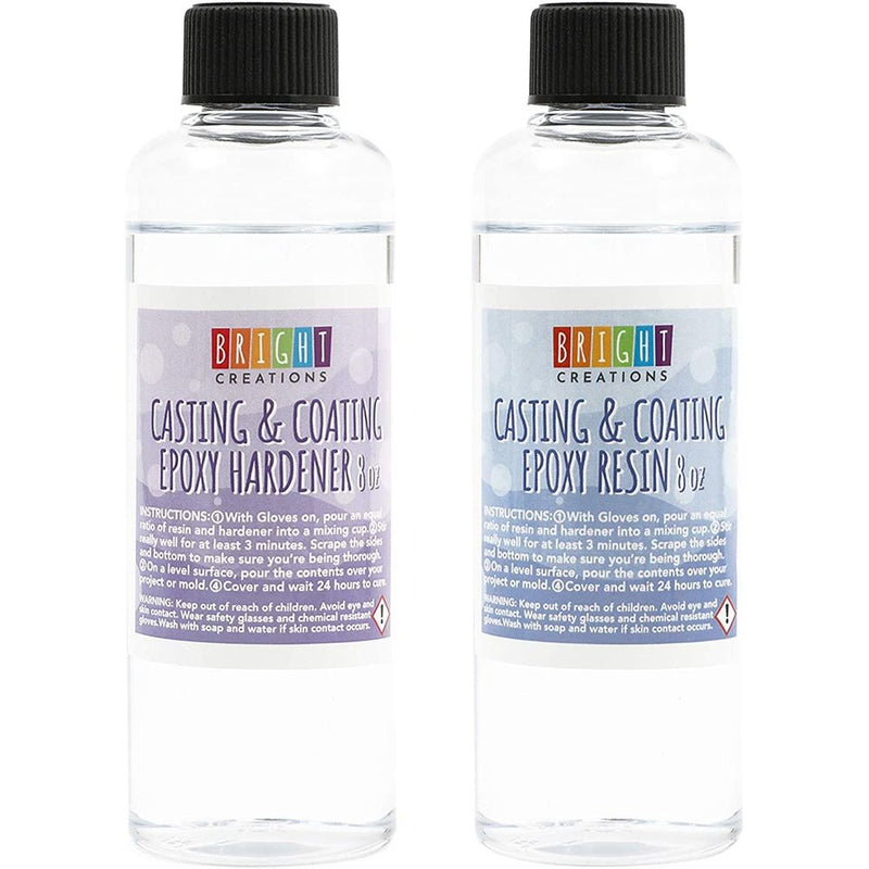 Clear Casting Epoxy Resin for Jewelry Making, DIY Crafts (8 oz, 2 Pack)