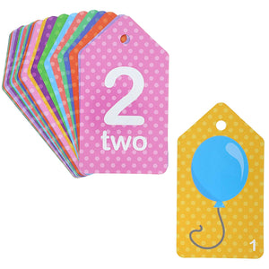 Colorful Educational Flash Cards (Words, Alphabet, Numbers, 78 Pieces, 3-Pk)