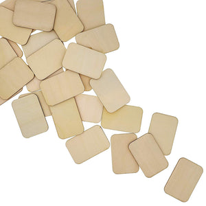 Bright Creations Unfinished Wood Rectangles for DIY Crafts (60 Pack), 2 x 3 Inches