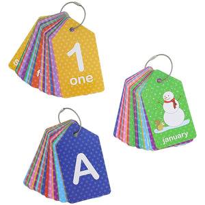 Bright Creations 3-Pack First Words (Alphabet & Numbers) Flash Cards for Infants and Preschoolers