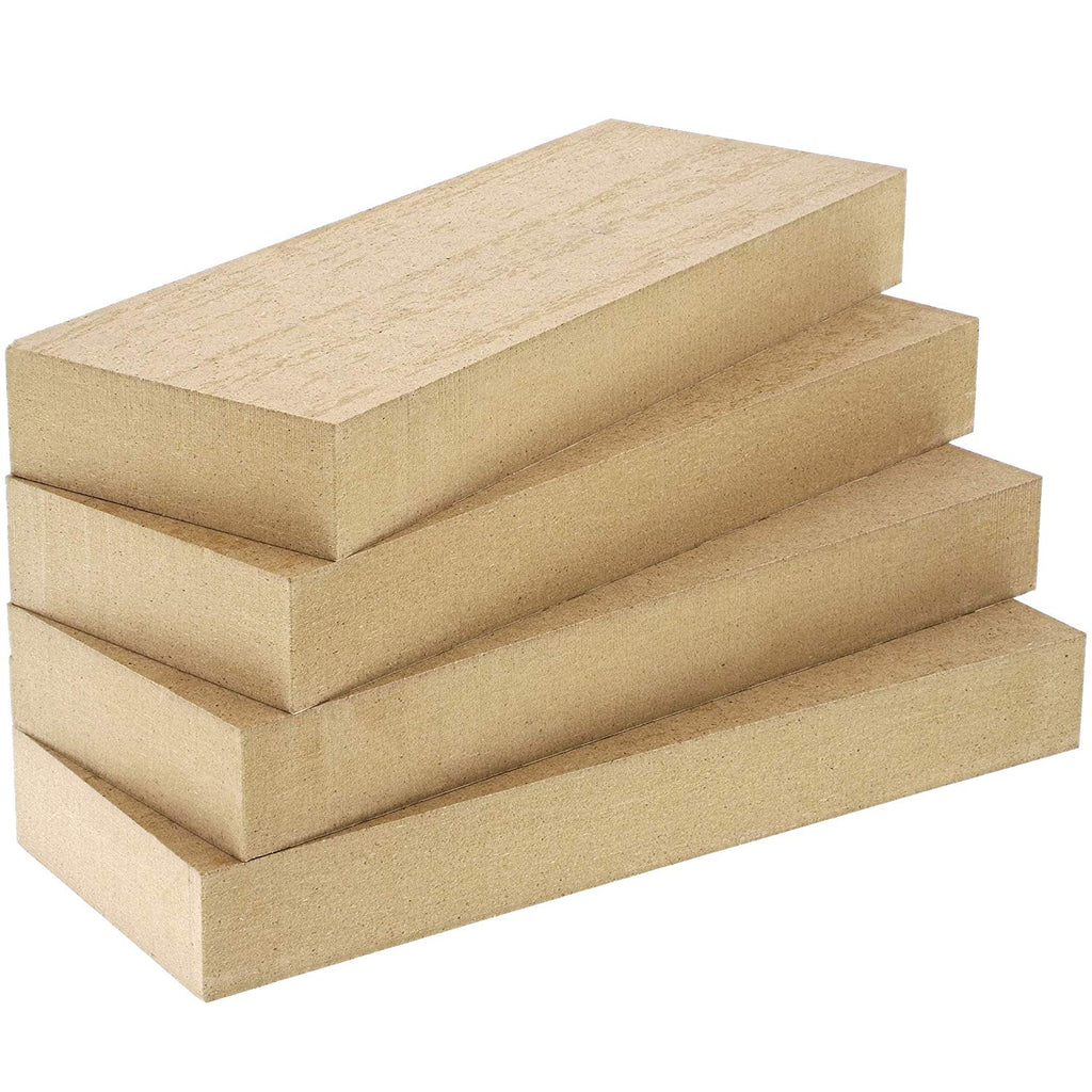 Unfinished Wood Squares for Crafts, 1 Inch Thick (6x6 in, 4 Pack)