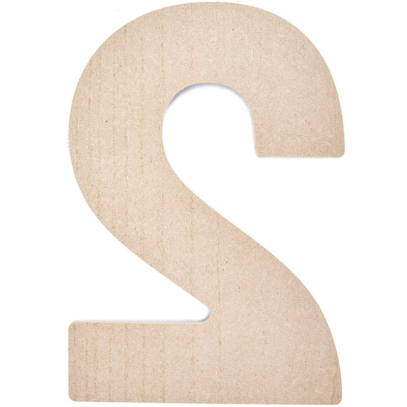Bright Creations MDF Wood Number 2 for DIY Crafts