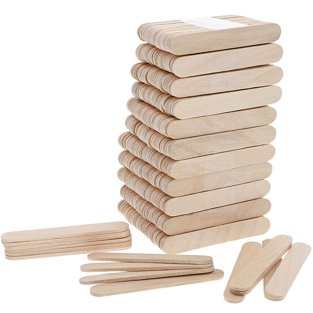 300x Mini Popsicle Sticks, Natural Wood Craft Bulk Ice Cream Stick, 2.5 x 0.4 In
