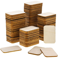 120 Pack Unfinished Wood Square Cutout Pieces for DIY Crafts, 2 x 1.5 Inches