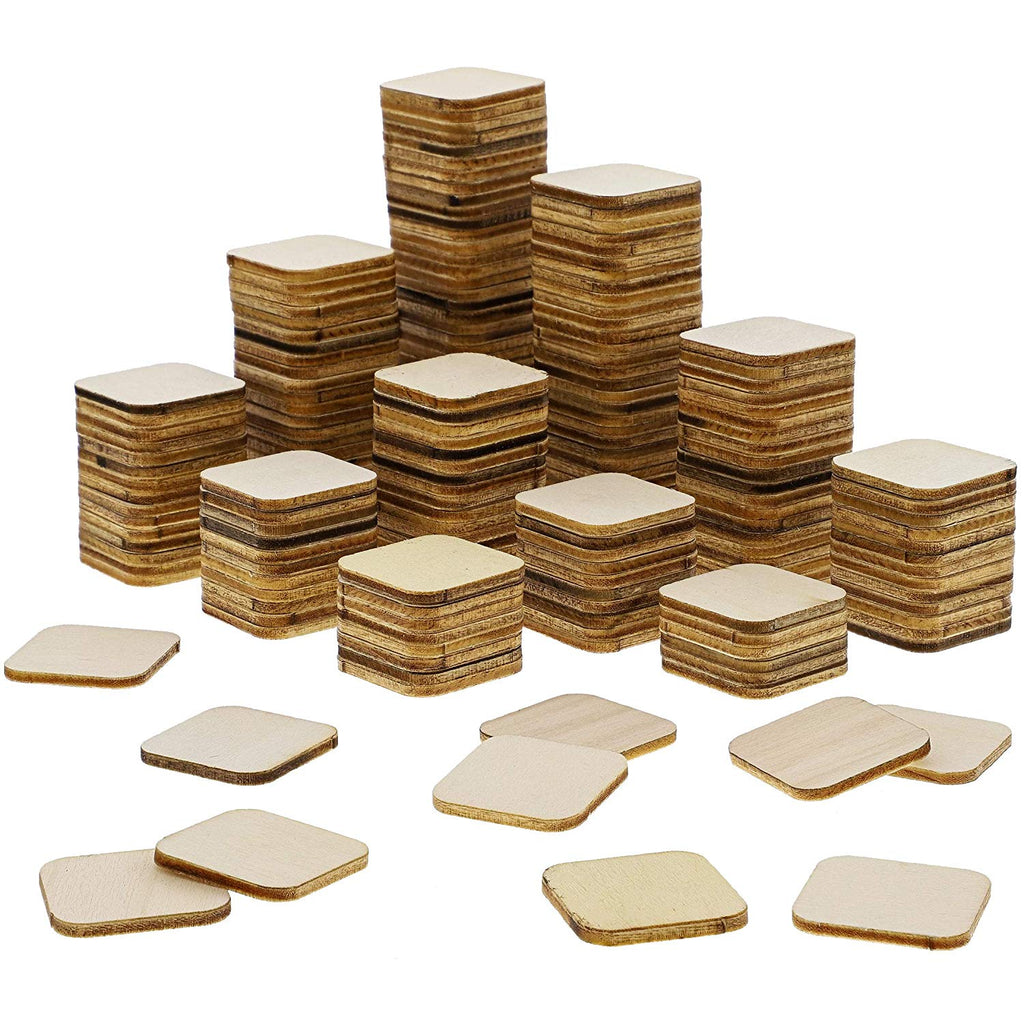 Bright Creations 60-Pack Unfinished Wood Square Cutout Pieces for DIY Crafts, 3 Inches