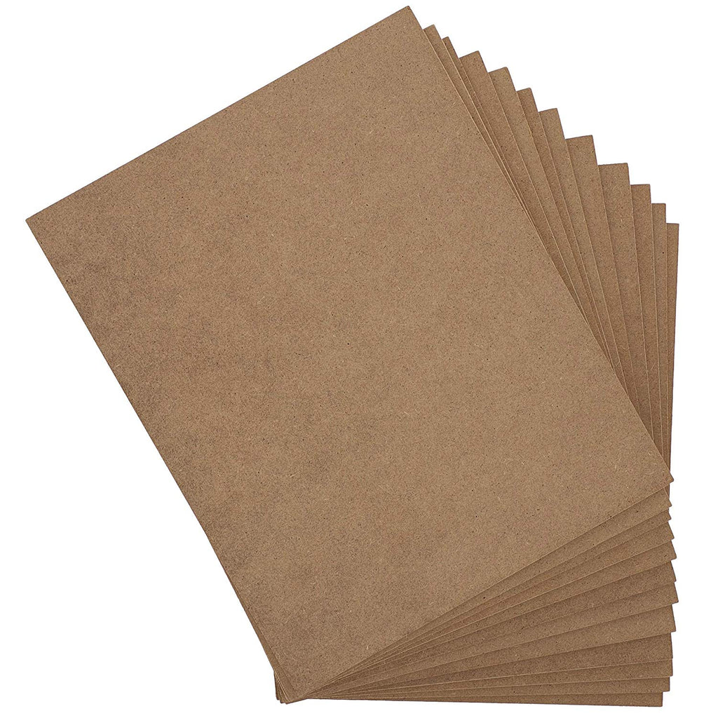 Blank Chipboard Sheets, Wooden Panels for Crafts (8x10 in, 12 Pack)