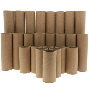 Bright Creations Brown Paper Cardboard Craft Tube Rolls, 3 Sizes (24 Pack)