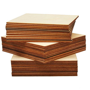 Bright Creations 36-Pack Unfinished Wood Square Cutout Pieces for DIY Crafts, 5 Inches