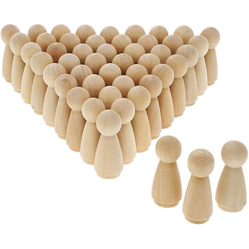 Bright Creations Wood Peg Angel Doll Bodies for DIY Crafts (50 Pack)