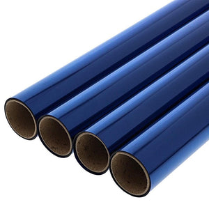 Juvale 4-Pack Blue Cellophane Wrapping Roll for Gift Baskets and Crafts, 17 Inches x 10 Feet Each
