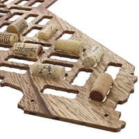 California Map Wood Wine Cork Holder Board for Wall Décor, L26 x H9.8 x W0.24""