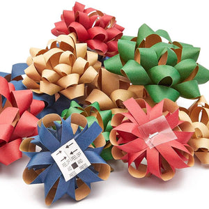 Bright Creations Gift Wrapping Bows for Presents - Ideal for Holiday, Christmas, Birthday, Baby Shower (4 Colors, Bulk 120 Pack)