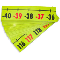 Set of 37 Pieces Magnetic Demonstration Number Line for Classroom, -40 to 200