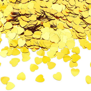 Bright Creations Heart Confetti for Parties (0.5 x 0.5 in, Gold)