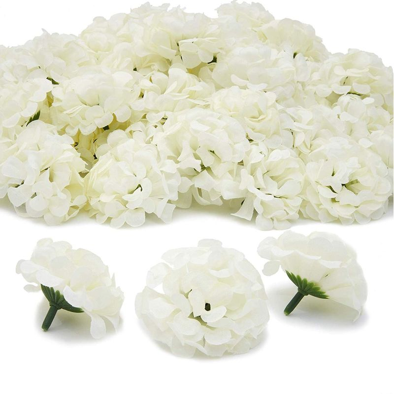 Artificial Flowers, Mini Hydrangeas for Arts and Crafts (Light Green, 1.5 in, 60 Pack)