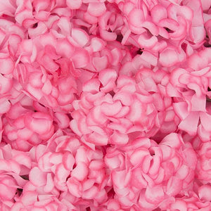 60Pcs Pink Mini Artificial Hydrangea Fake Flowers Heads for Floral Decoration