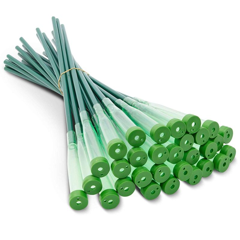Bright Creations Green Water Tubes for Flower Arrangements – Pack of 30