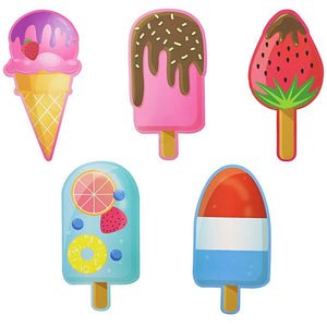 "120pcs 6"" Popsicle Ice cream Paper Bookmarks Page Markers for Kids Fun Gift"