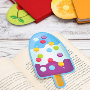 Popsicle Bookmarks for Kids (6 in, 120 Pack)