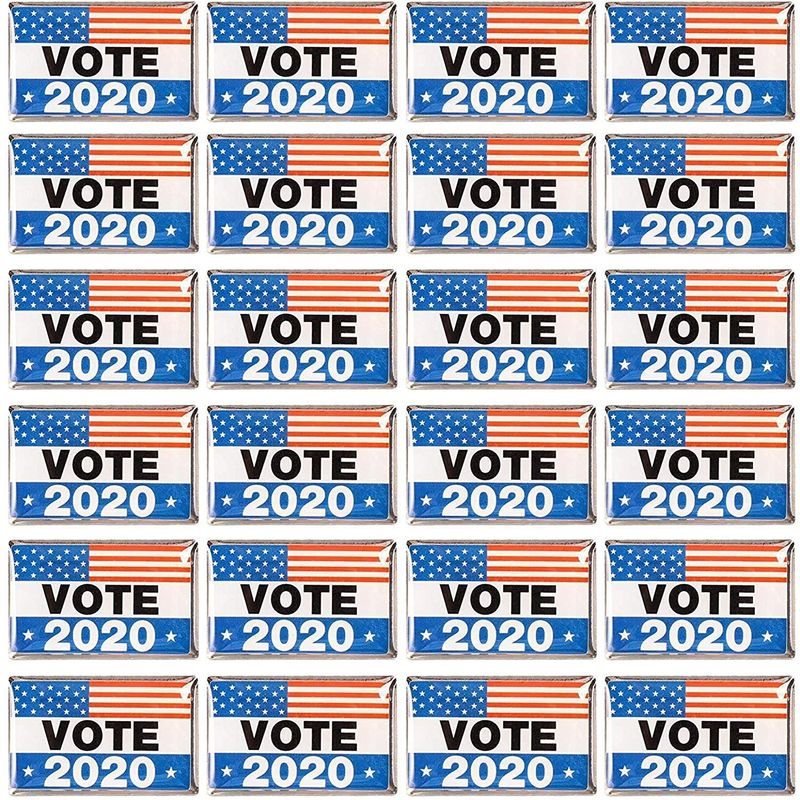 VOTE 2020 American Flag Election Lapel Pins (24 Pack)