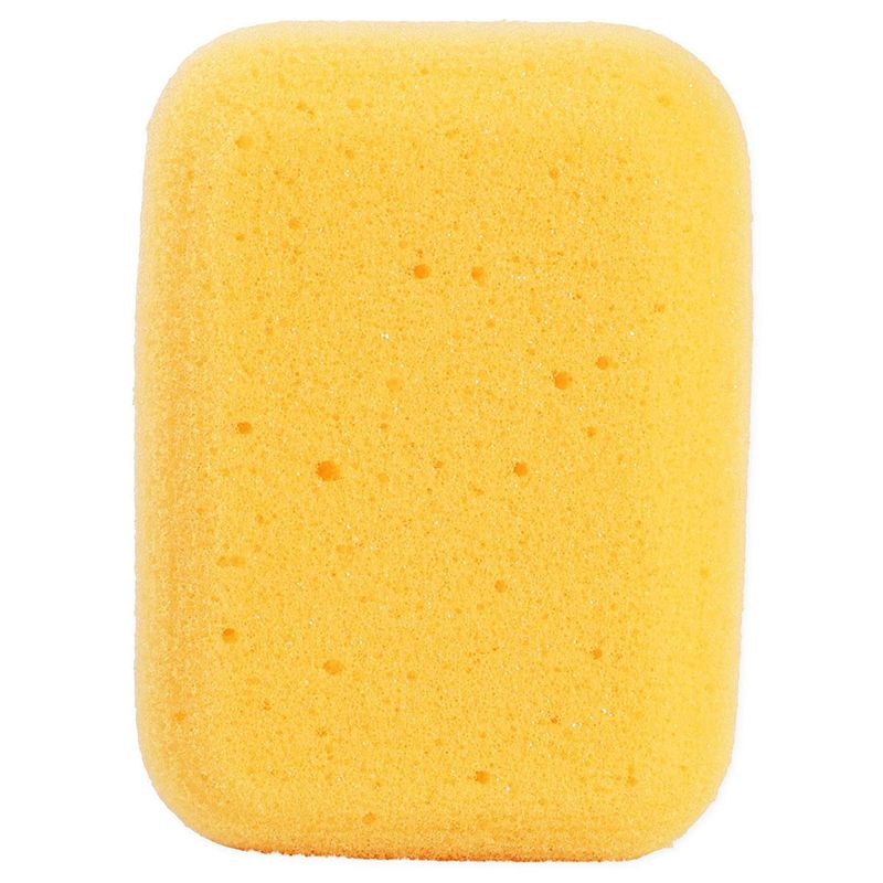 9 Pack Rectangle Synthetic Painting Sponge for Art Crafts, Light Orange, 3 Sizes
