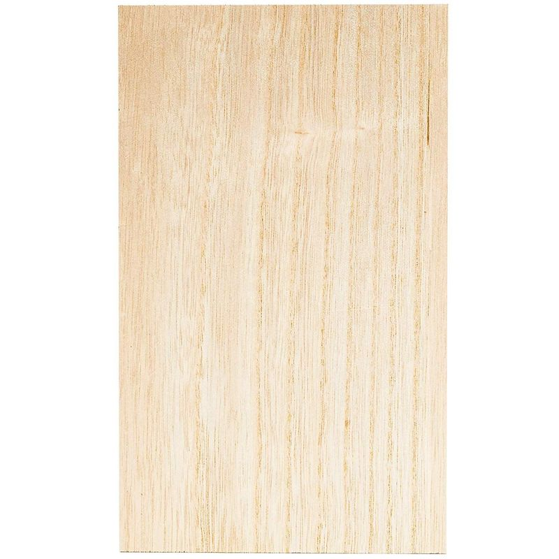 MDF Unfinished Wood Blocks for DIY Crafts (6 x 10 in, Rectangle, 4 Pack)