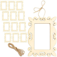 12x Unfinished Mini Wood Frames Cutout for DIY Craft Home Decoration 5 x 7""