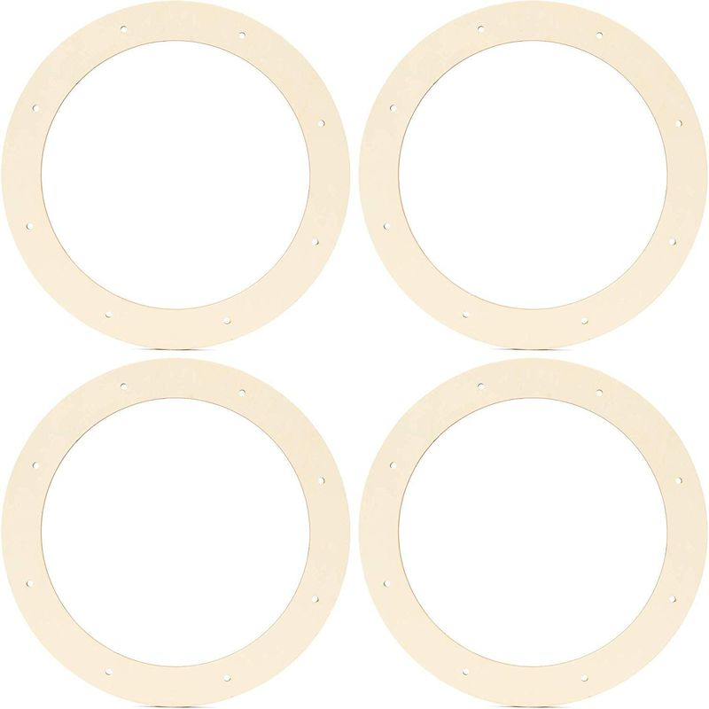 Bright Creations Wreath Frames for Crafts, Wooden Floral Craft Rings (11.5 in, 4 Pack)