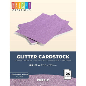 Bright Creations Glitter Cardstock Paper (8.5 x 11 in, 24 Sheets)