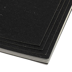 24x Glitter Cardstock Paper DIY Crafts Gift Box Wrapping, Black 11 x 8.5 inches