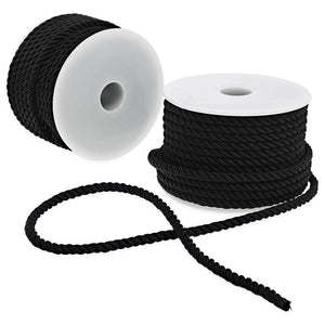 2 Pack 18 yards Twine Cord Nylon Rope for Crafting Cord and Home Décor, Black