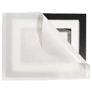 "100 Pack Glassine Paper Sheets for Wrapping Food and Protect Artwork,  12"" x 12"""