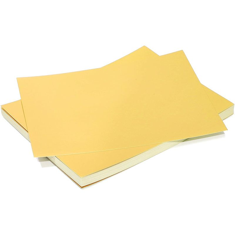 "50 Pack Metallic Gold Foil Paper Board Sheets for Arts and Crafts, 8.5"" x 11"""