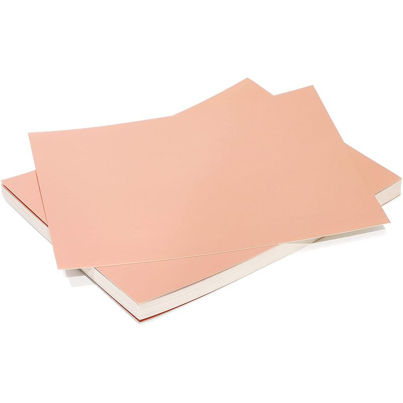Metallic Cardboard Sheets in Rose Gold Foil (Letter Size, 50-Pack)