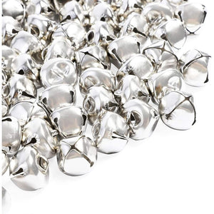 Mini Jingle Bells for Christmas and Crafts (Silver, 300 Pack)