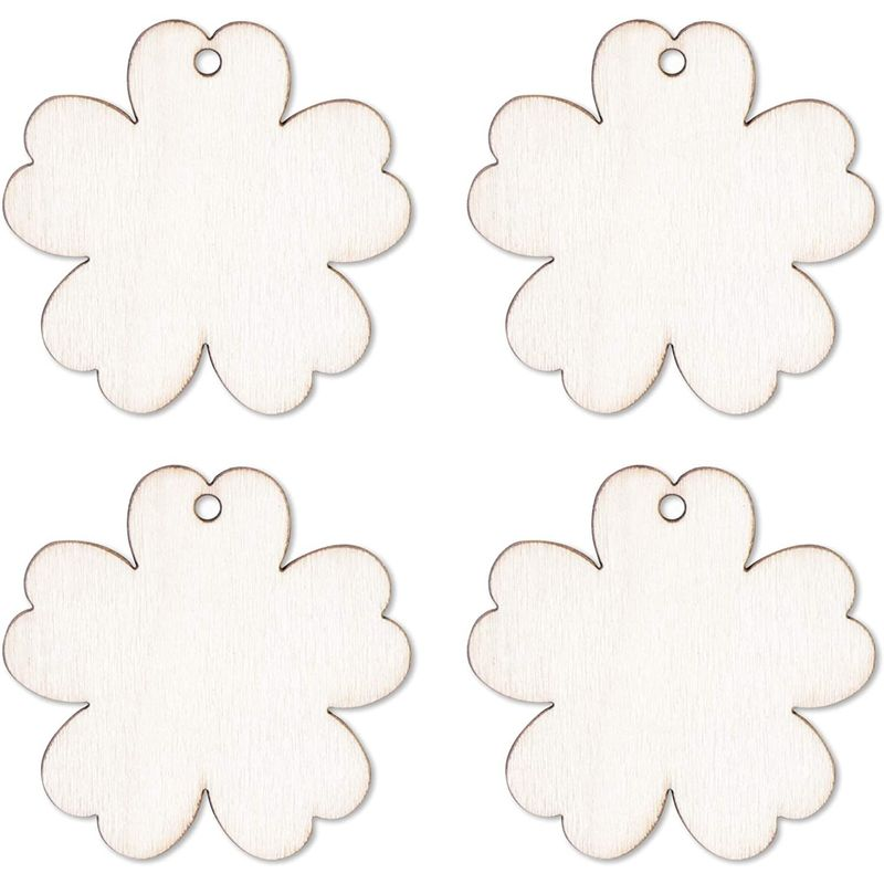 Unfinished Wood Easter Ornaments (24 Pack)