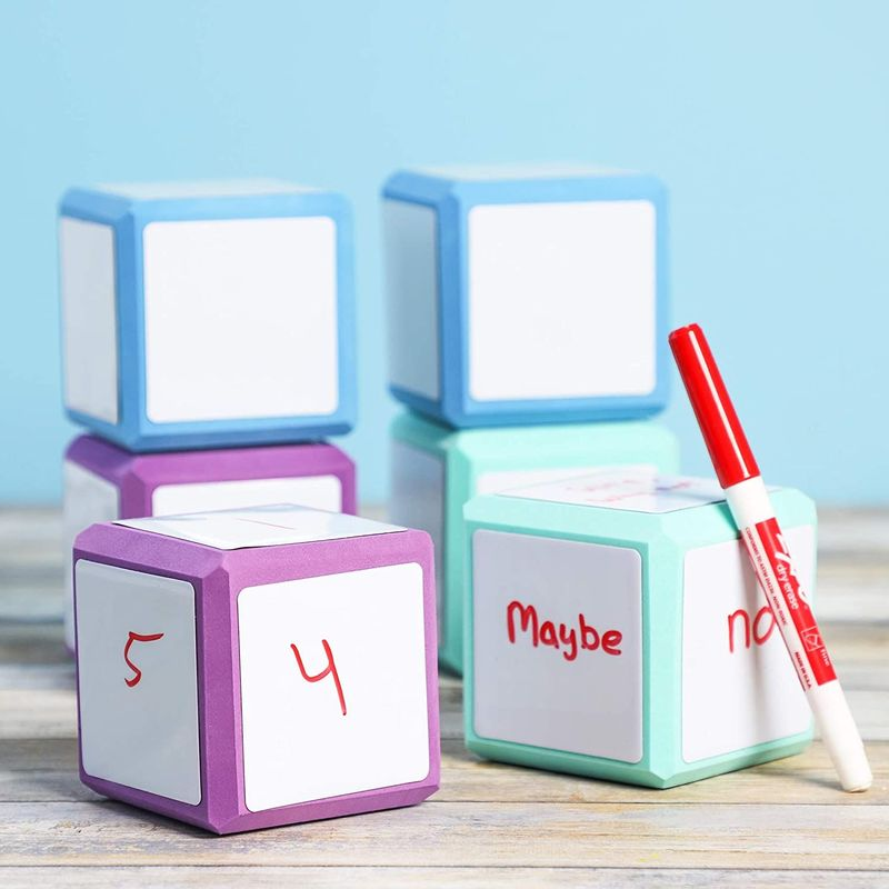 Bright Creations Foam Dry Erase Blocks (3 x 3 in., 6 Pack)