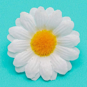 "100pcs 1.6"" Artificial Dasiy Flower Heads for Party & DIY Craft Projects, White"