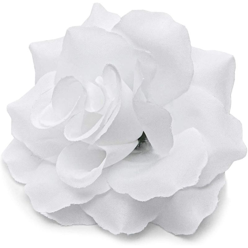 "60pcs 4"" Artificial Rose Flower Heads for Party & Wedding Decorations, White"