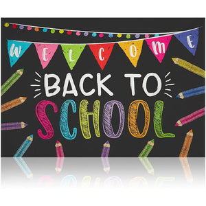 Back to School Photo Backdrop for Classroom Decorations (5 x 7 Ft)