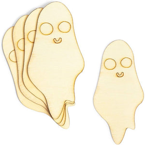 Unfinished Wood Cutouts, Halloween Ghost and Tombstone (24 Pieces)